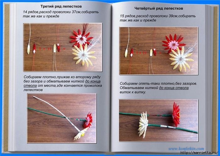 Цветы из бисера. Хризантемы (5) (700x497, 283Kb)