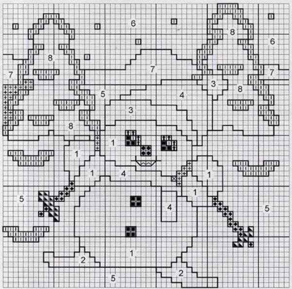 свитор снеговик сх (600x593, 293Kb)