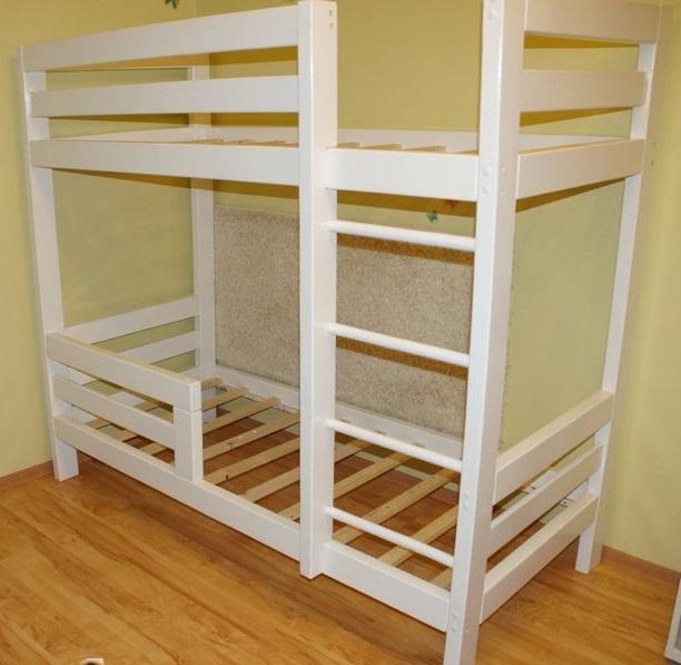 купить кровать деревянную из массива дерева недорого дешево  в москве по акции и скидке цена от производителя фабрики мебели детская для двоих детей (612x597, 251Kb)