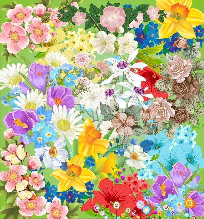 Цветы на прозрачном фоне, 37 png.