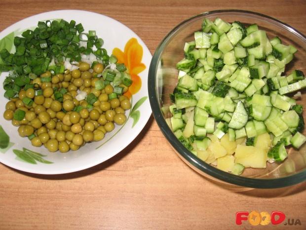 Рецепт салата с горошка