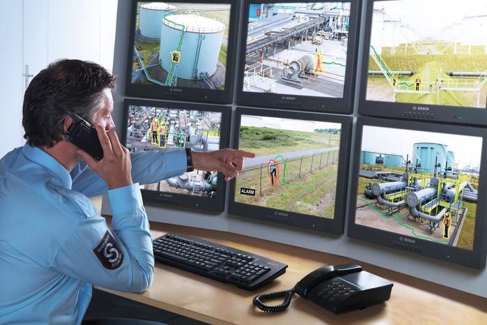 Элементы системы охраны видеонаблюдения