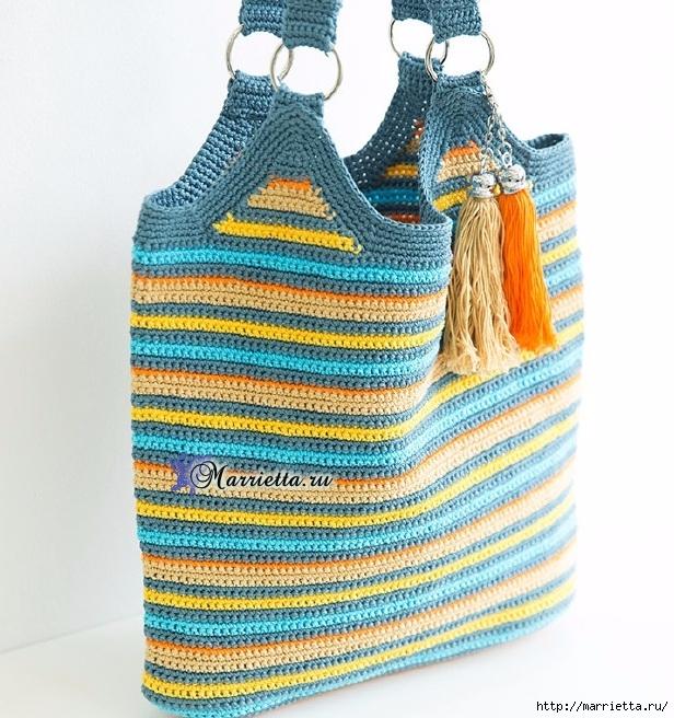 Летняя сумка-мешок крючком. Схемы вязания (2) (616x656, 324Kb)