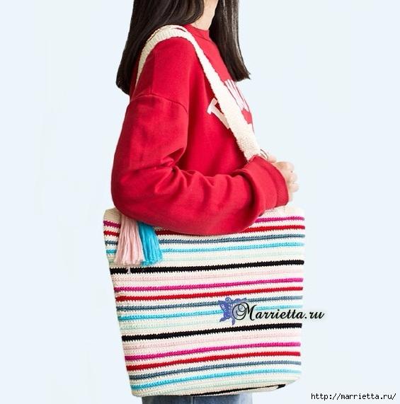 Летняя сумка-мешок крючком. Схемы вязания (4) (565x571, 144Kb)