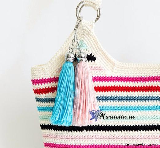 Летняя сумка-мешок крючком. Схемы вязания (16) (521x482, 166Kb)