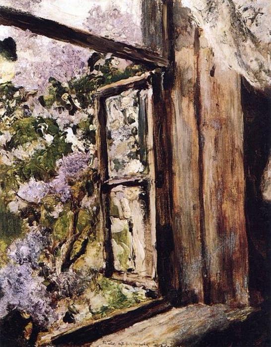 Открытое окно. Сирень. 1886. Холст, масло. Расположение Национальный художественный (546x700, 486Kb)