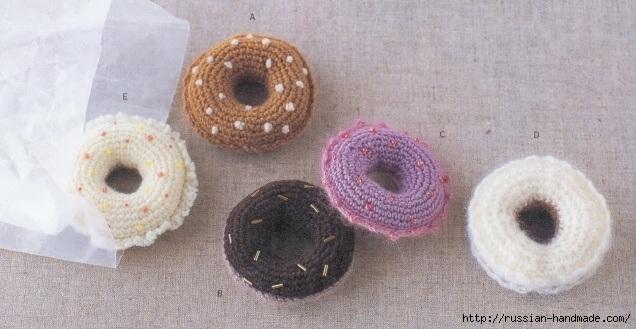 Вязаные крючком пирожные. Схемы вязания (10) (636x329, 155Kb)