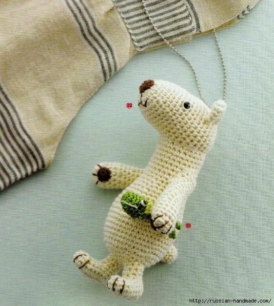 Амигуруми. Схемы вязания белого медведя, кроликов и котят (1) (562x627, 325Kb)