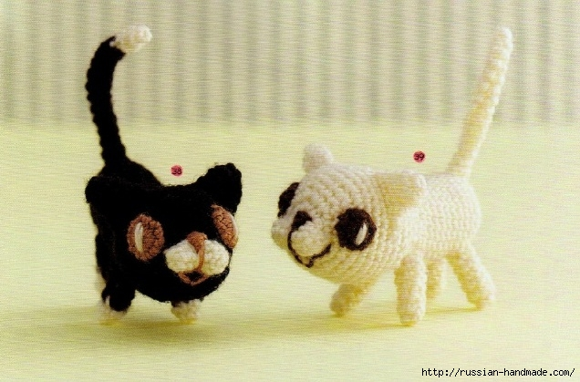 Амигуруми. Схемы вязания белого медведя, кроликов и котят (5) (636x419, 198Kb)