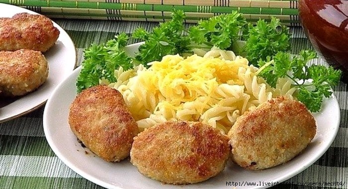 Котлеты с макаронами пошаговый рецепт с