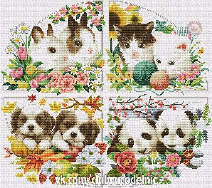 Animals of Seasons (700x620, 772Kb)