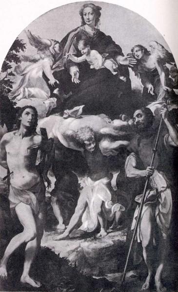 6 Ансельми Святой Рох со святым Себастьяном и Девой Марией (365x600, 182Kb)