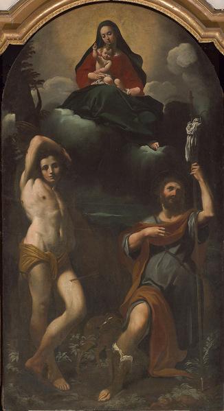 8 Бононе  Св Рох со Св Себастьяном и Девой Марией (326x599, 155Kb)