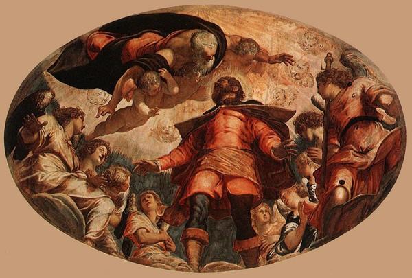 18 Тинторетто Святой Рох во славе (600x405, 267Kb)