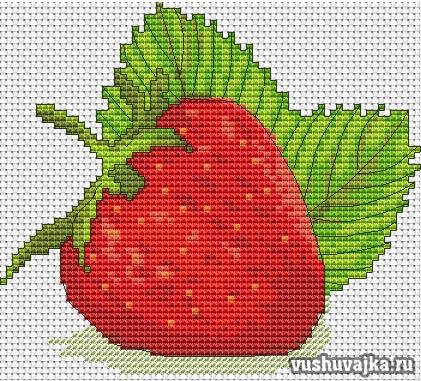 схема для вышивки клубника/1495288778_klubnika1 (421x381, 70Kb)