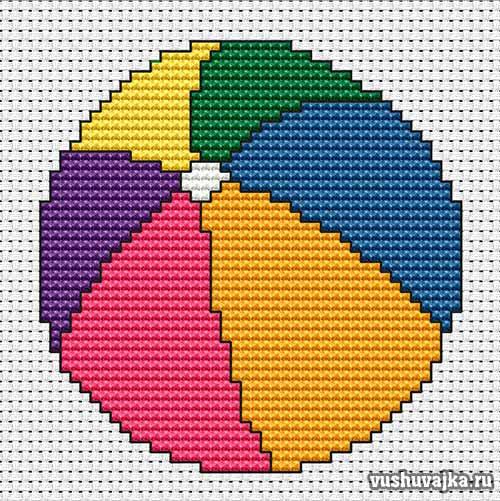 Вышивка мяч/1495289849_myachik1 (500x501, 68Kb)