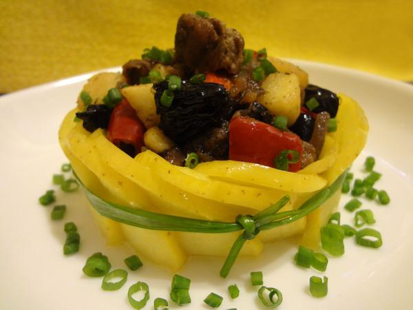 Салат тёплый из печени
