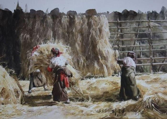 Акварельные портреты Тибета: китайский художник Лю Юншэн
