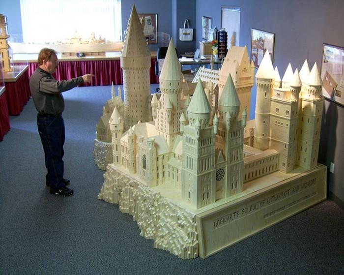 Города из спичек: удивительное хобби скульптора Патрика Актона