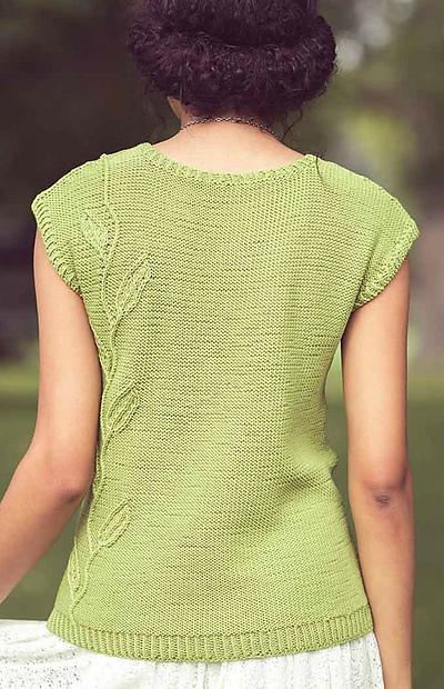 针织叶子上衣(十一):淡绿色背心(编织杂志 夏天/2017) - maomao - 我随心动