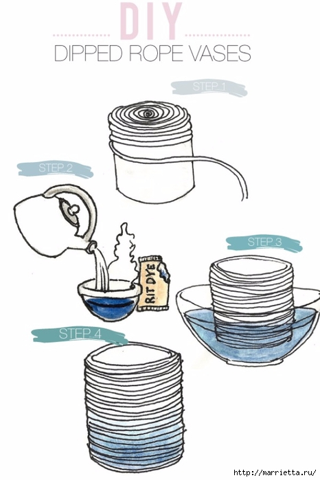 Стильные вазы из бельевой веревки (7) (466x700, 145Kb)