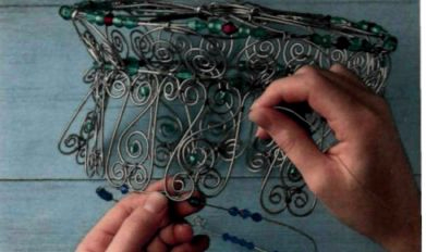 Плетем из проволоки. Как сделать мавританский абажур (15) (391x232, 81Kb)