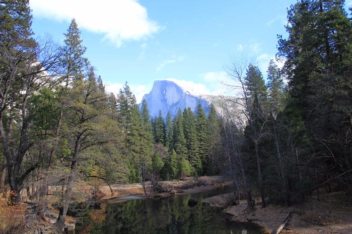 скала Хаф-Доум в парке йосемити 9 (700x466, 413Kb)