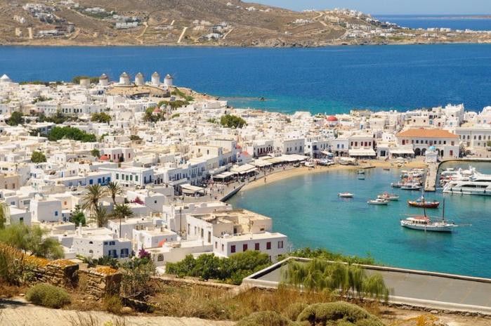 остров миконос греция