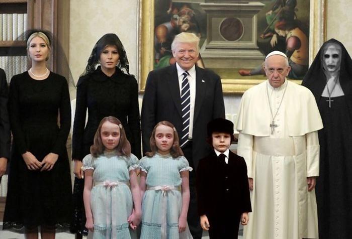 Социальные сети активно обсуждают визит Трампа в Ватикан
