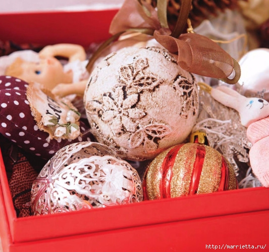 Новогодние елочные игрушки - оригинальные шары (1) (533x499, 207Kb)