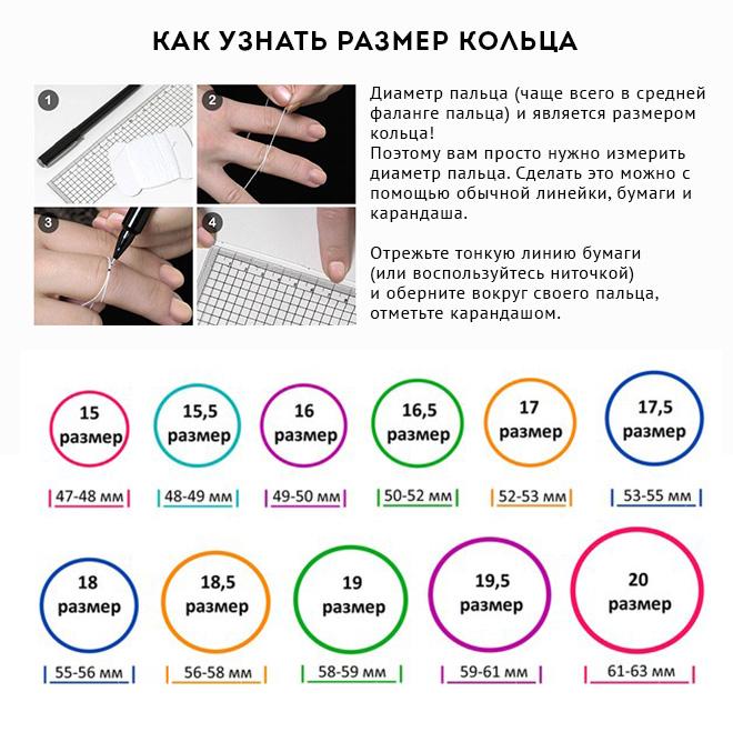 Как узнать размер пальца у девушки в домашних условиях 325
