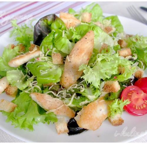 Салат цезарь приготовление курицы