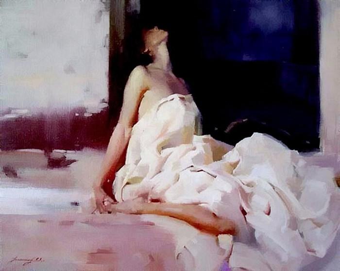 Художник Чжаомин У: нежные портреты девушек
