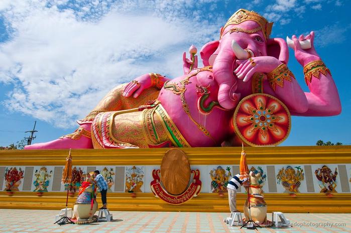 статуя розового ганеши Ват Санам Ратанарам 3 (700x464, 430Kb)