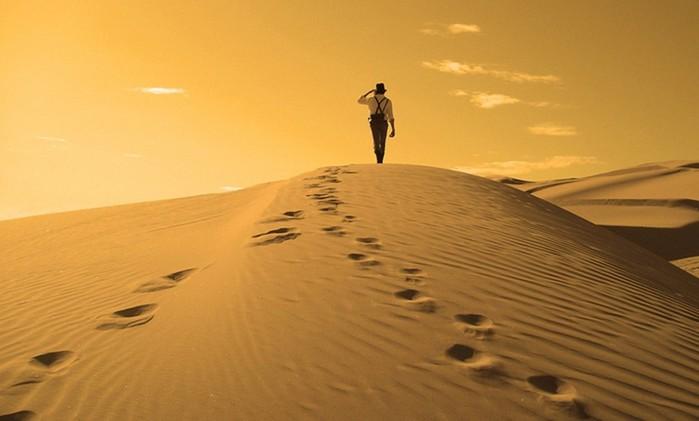 Следы на песке (урок в школе выживания)