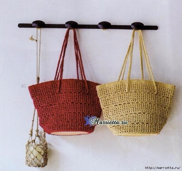 Вяжем крючком летнюю сумку. Схема вязания (2) (620x583, 301Kb)