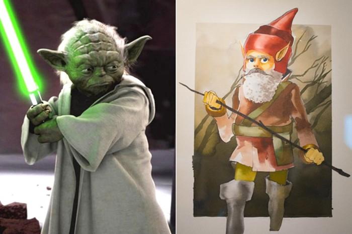 Первые рисунки эскизы знаменитых голливудских персонажей