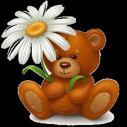 медведь-ромашка (256x256, 91Kb)