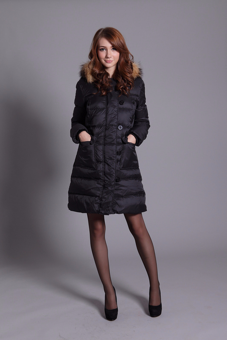 Moncler Coats Women Pure Color Hooded Fashion Black_1_LRG (466x700, 200Kb)