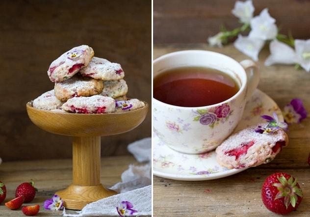 Клубничное печенье за 15 минут!