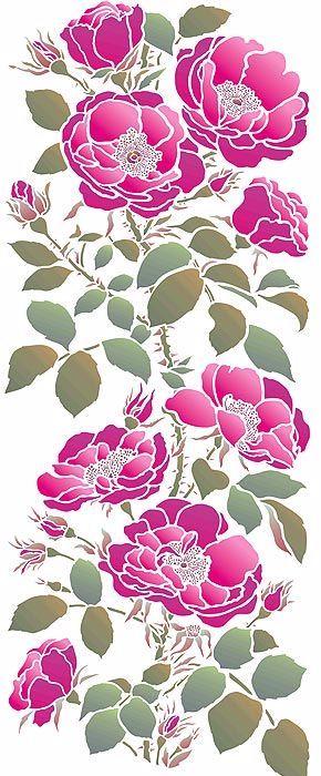 трафарет цветы (5) (290x700, 277Kb)
