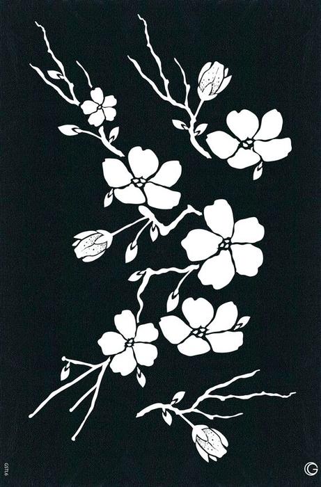 трафарет цветы (9) (461x700, 359Kb)