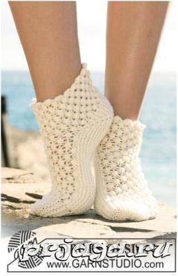 Ажурные носки спицами схемы с описанием