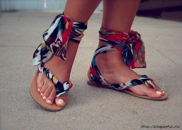 креативные сандалии