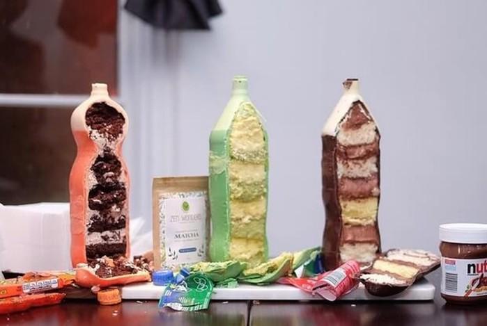 Бутылка из шоколада с начинкой
