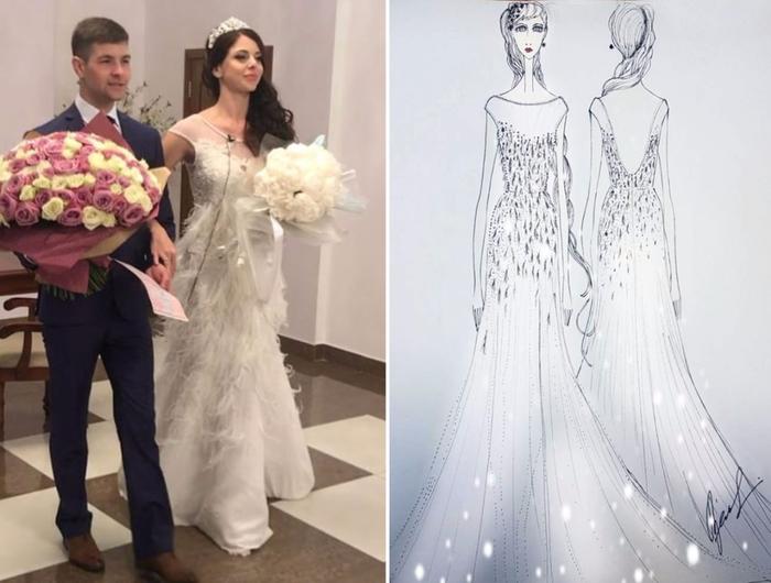 Фото платья свадебного рапунцель