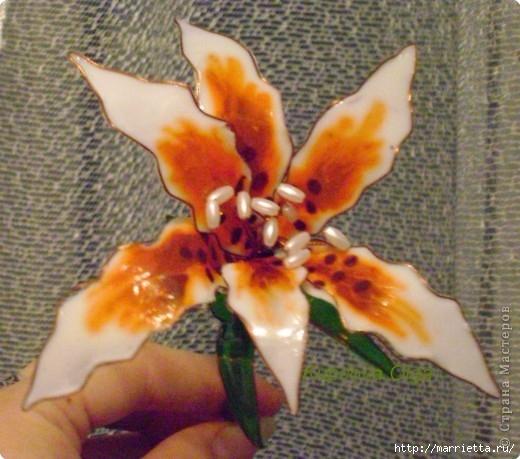 Цветы handmade из витражных красок. Мастер-класс (14) (520x459, 162Kb)