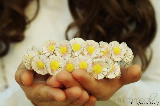 Венок из ромашек своими руками для маленькой принцессы (8) (660x437, 129Kb)