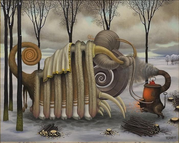 Волшебные работы Яцека Йерка (Jacek Yerka)