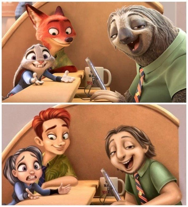 Если бы животные из популярных мультфильмов стали людьми